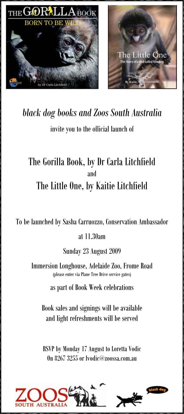 Carla Katie Book Launch invitation - one copy